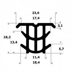 Dilatieprofiel | hoogte 18,2 mm | breedte 23,6 mm