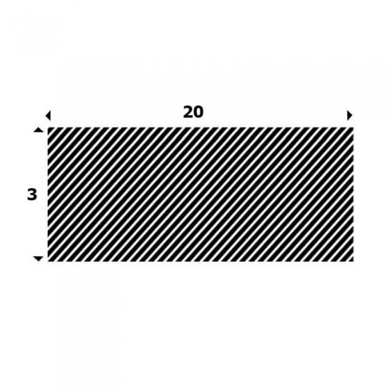EPDM Mosrubber rechthoekig snoer 3mm x 20mm
