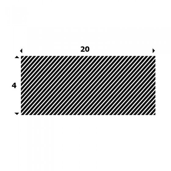 EPDM Mosrubber rechthoekig snoer 4mm x 20mm