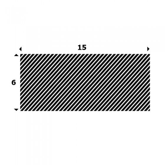 EPDM Mosrubber rechthoekig snoer 6mm x 15mm
