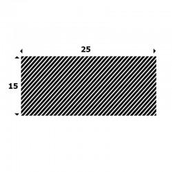 EPDM Mosrubber rechthoekig snoer 15mm x 25mm