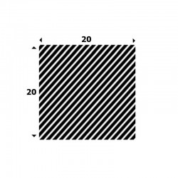 EPDM Mosrubber vierkant snoer 20mm x 20mm