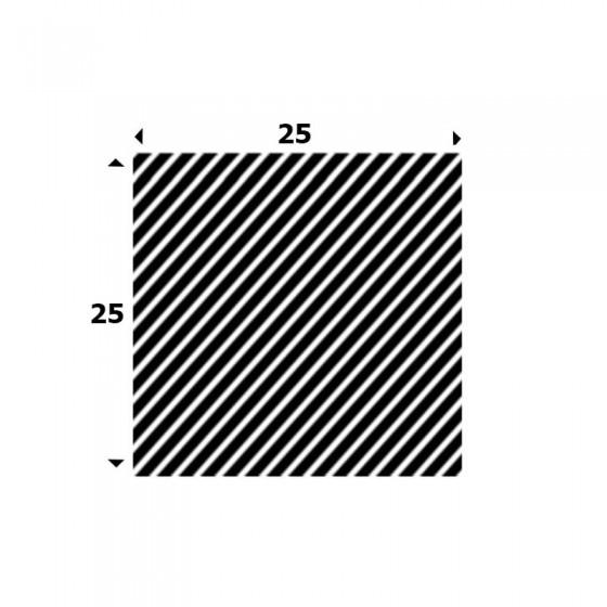 EPDM Mosrubber vierkant snoer 25mm x 25mm