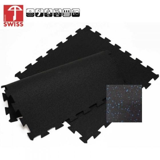 Sportvloer ProfiGym puzzel tegel Blauw Zwart | 8mm dik | 100cm x 100cm