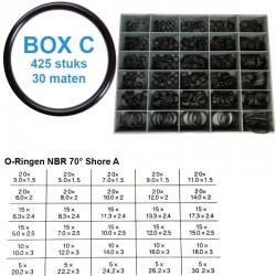 O-ringen | assortimentsbox C | 425 ringen | 30 maten