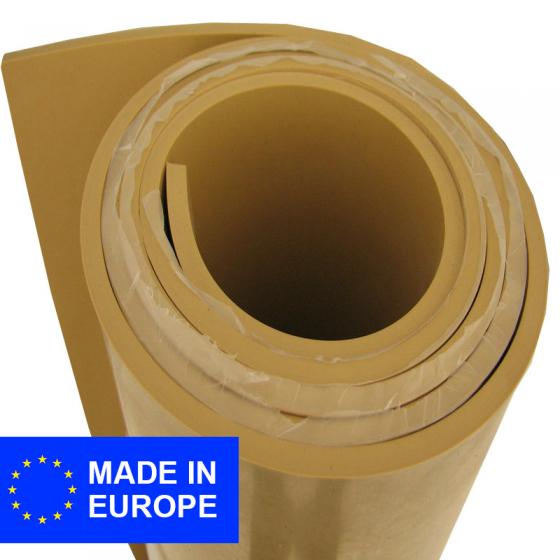 Para plaatrubber (natuurrubber) | Beige | 1mm dik | 140cm breed