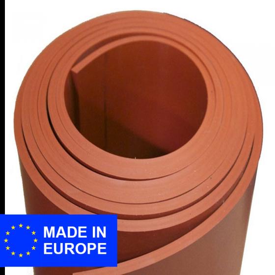 Para plaatrubber (natuurrubber) | Rood | 6mm dik | 140cm breed