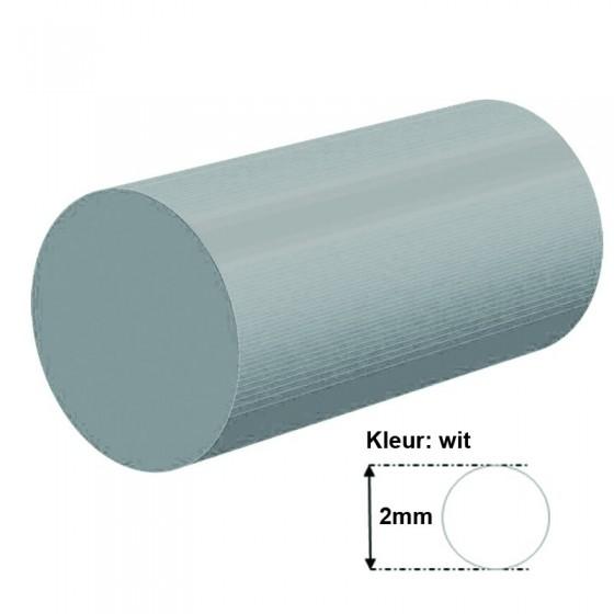 Wit Siliconensnoer | Ø 2mm | FDA keurmerk