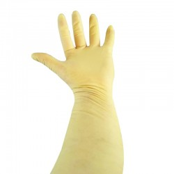 Latex natuurrubber handschoen