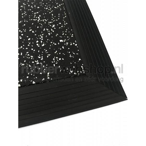 Vol rubber Oploop profiel | 6mm dik | 55mm breed | Per meter