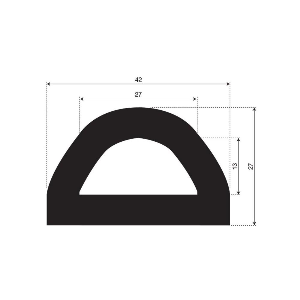 Fenderprofiel | breedte 42mm | hoogte 27mm