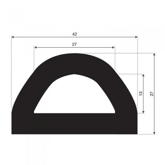 Stootprofiel (fenderprofiel) | breedte 42mm | hoogte 27mm