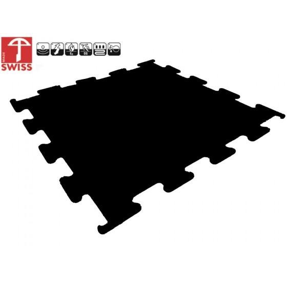 Sportvloer ProfiGym puzzel tegel Pure Black | 8mm dik | 100cm x 100cm
