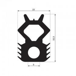 Containerprofiel | breedte 22mm | hoogte 32,3mm