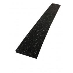 Rubber oploop/afwerk profiel zwart/grijs | 13cm breed x 100cm lang | 2 cm dik