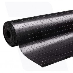 Rubber vloer met noppen profiel | 3mm dik  | 150cm breed | Rol lengte 10 meter oliebestendig