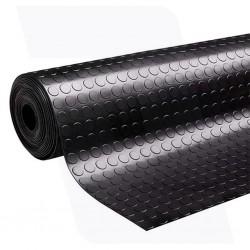 Rubber vloer met noppen profiel | 4mm dik  | 120cm breed | Rol lengte 10 meter oliebestendig