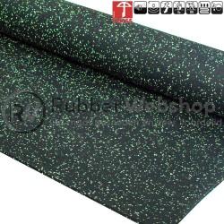 rubber vloer close-up met groene korrels
