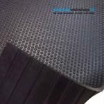 Anti Trillingsmat | 8mm dik | 100cm breed | 100cm lengte | Hardheid 45°