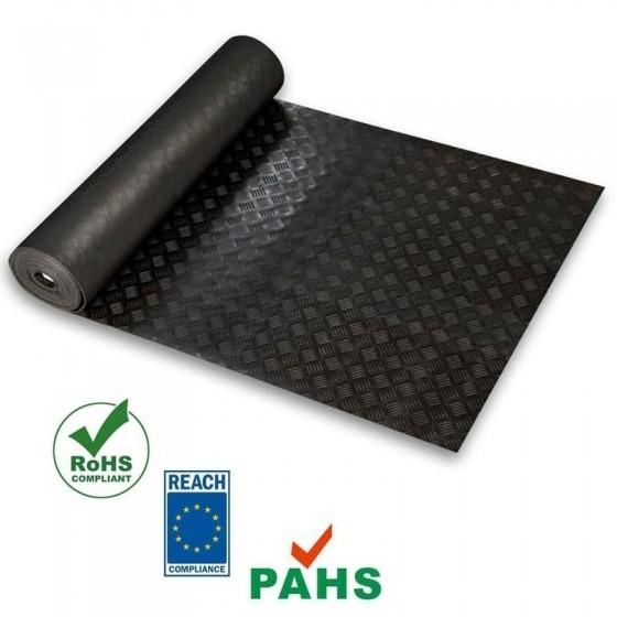 Traanplaat rubber vloer | 3mm dik | 120cm breed
