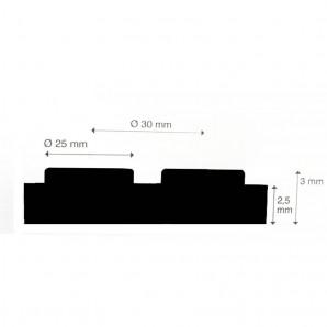 Eco Traanplaat rubber vloer (checkermat) | 3mm dik | 140cm breed | per strekkende meter