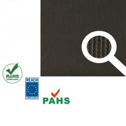 Eco Fijnrib rubber vloer | 3mm dik | 120cm breed | per strekkende meter