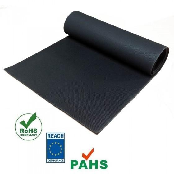Fijnrib rubber vloer | 3mm dik | 40cm breed