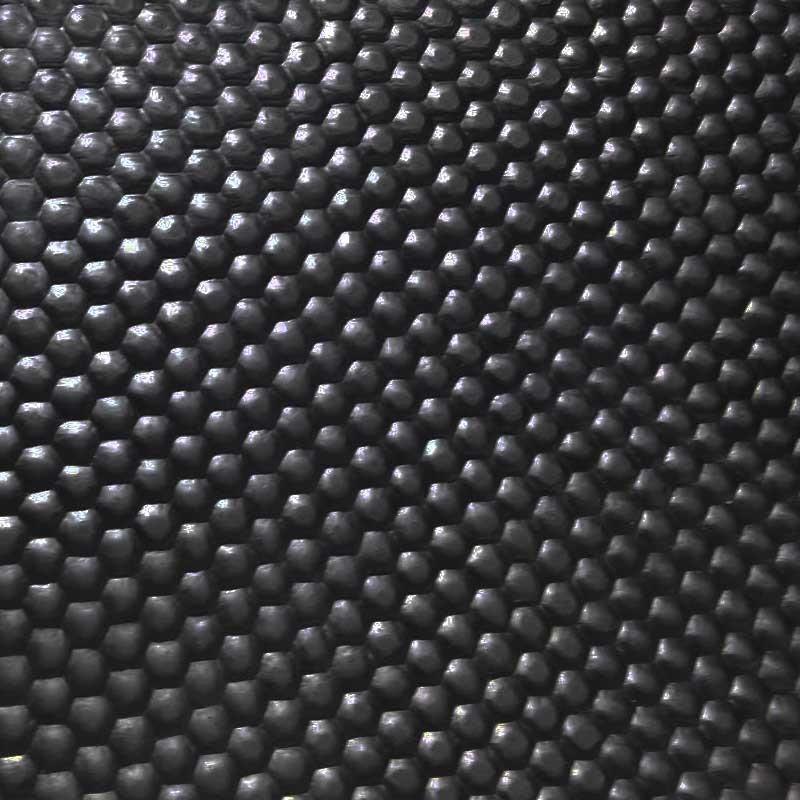 Sportvloer zwart/grijs | 6mm dik | 125cm breed | rol 10 meter of afsnijding