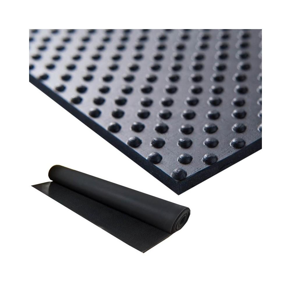 Kopspijkermat rubber vloer