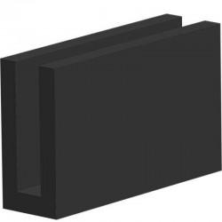 Volrubber U Profiel | binnenmaat 3mm | hoogte 15mm | dikte 2mm