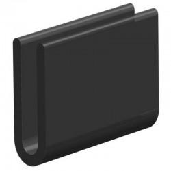 Volrubber U Profiel | binnenmaat 3mm | hoogte 16mm | dikte 1,5mm