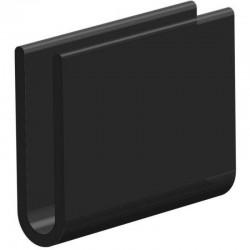 Volrubber U Profiel | binnenmaat 3,5mm | hoogte 19mm | dikte 1,25mm