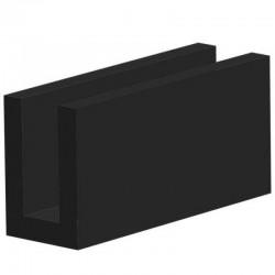 Volrubber U Profiel | binnenmaat 4mm | hoogte 12mm | dikte 2mm