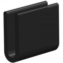 Volrubber U Profiel | binnenmaat 4mm | hoogte 20,5mm | dikte 2mm