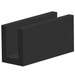 Techno 200 Neopreen Zwart | Celrubber | 2,0 mm dik | 30,0 mm breed | 1 zijde zelfklevend | 25 meter