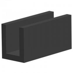 Techno 200 Neopreen Zwart | Celrubber | 2,0 mm dik | 40,0 mm breed | 1 zijde zelfklevend | 25 meter