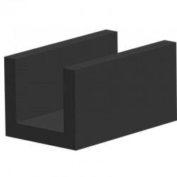 Volrubber U Profiel | binnenmaat 10mm | hoogte 13mm | dikte 2,5mm