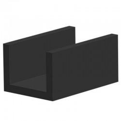 Volrubber U Profiel | binnenmaat 12mm | hoogte 12mm | dikte 2mm