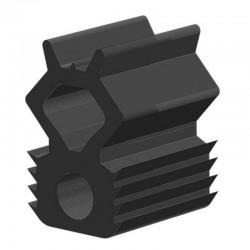 Techno 200 Neopreen Zwart | Celrubber | 4,0 mm dik | 30,0 mm breed | 1 zijde zelfklevend | 20 meter