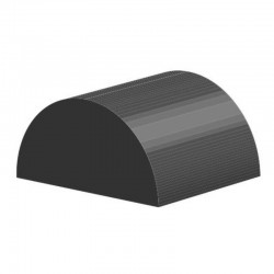 Halfrond EPDM profiel | breedte 30mm | hoogte 15mm