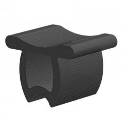 Techno 200 Neopreen Zwart | Celrubber | 4,0 mm dik | 40,0 mm breed | 1 zijde zelfklevend | 20 meter